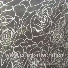 Flocking Organza Curtain Fabric (SHCL00869)