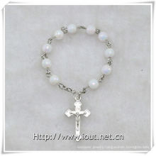 Plastic Beads Finger Rosary with Cross, Plastic Finger Rosary (IO-ce084)
