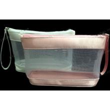 PVC Clear Plastic Zipper Mesh Packing Make up Bag