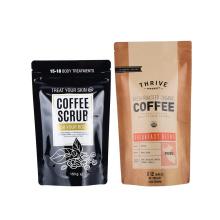 Custom Logo Print 200g 250g 500g Arabica Coffee Bean Snack Food Coffee Bags with Zipper Valve