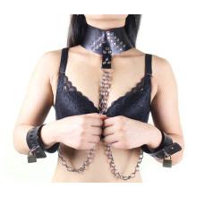 Manchette de sexe de Sm Joint d'anneau articulé avec chaîne en métal Chaussures de sexe Bondage Sex Restraint Bdsm Sex Toys