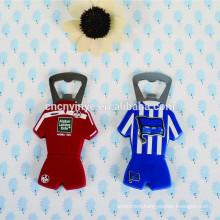 Fashion OEM soft PVC beer bottle openers and fridge magnet for promotion