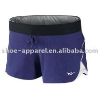 Nuevo diseño de pantalones cortos de color púrpura deportivo para ejecutar el servicio de OEM