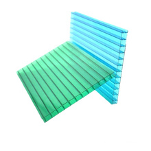 Anti-UV coated durable  waterproof two wall sun polycarbonate sheet for sunroom roof and garden greenhouse