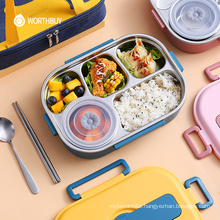 Japanese Portable Lunch Box 18/8 Stainless Steel Food Container For Kids School Picnic Bento Lunch Box Food Storage Box