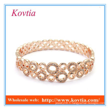 HOT SALE bijoux en forme de bijoux en cristal plaqué or en cristal