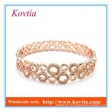 ГОРЯЧЕЕ СБЫВАНИЕ ювелирных изделий способа розовое золото покрыло индийский кристаллический bangle