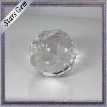 Grânulos de cristal conservados em estoque claros brancos claros da quantidade grande