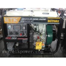 6kw generador diesel con motor aire-refrigerado