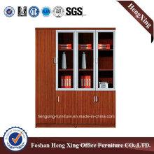 Aluminum Glass Doors Office Bookcase Modern Melamine Office Furniture (HX-4FL012)
