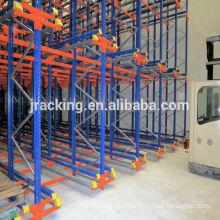 Tear drop pallet racks Jracking high density Metal Radio shuttle US standard pallet racks