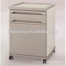 Cabinet de chevet médical en ABS et en acier