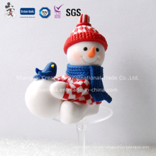 Snowman Polymer Clay Christmas Decoration