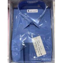 Camisas casuais de algodão xadrez masculino