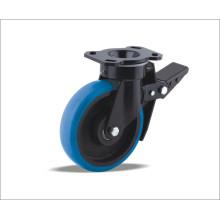 Roda giratória com roda de poliuretano com centro de ferro