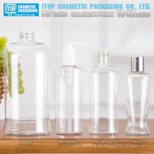 Serie de la TB-XR 160ml 200ml y 800ml sola capa multi uso buena calidad única forma oval claro botella plástica del animal doméstico