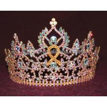 ribbon rhinestone tiara crown