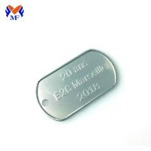 Tag de cão com logotipo personalizado de aço para pingente