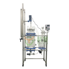 China Customized 50L Chemical Jacketed Glass solid liquid extraction Polypeptide Reactor With Filter Device