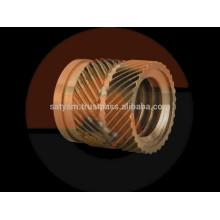 insertos de latão para moldagem de plástico, inserto de latão roscado macho para acessórios de tubos ppr