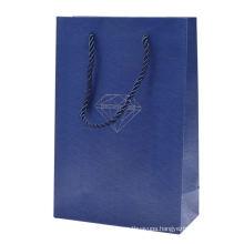 4C custom printed golden logo gift shopping packaging paper die-cut bag