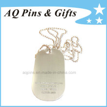 Metal Dog Tag with Laser Engraved Text