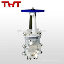 Stainless steel guillotine pneumatic actuated movable seat knife gate valves