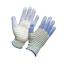 Nylon Knitted Anti Cut Glove with PU Coating on Palm