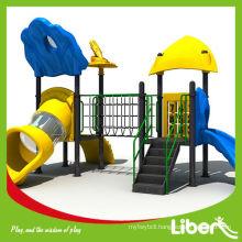 children playground outdoor slide in amusement park playground
