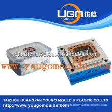 2013 Nouveau ménage zhejiang plastique alimentaire boîte moule moule d'injection fabriqué en Chine fournisseur