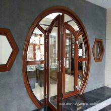 Customized Aluminum Alloy  Glass Circular Arc Flat Door Indoor Office Flat Door Security Door