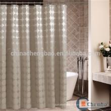 Cortina de banho de poliéster de poliéster de estilo europeu cortina de banheiro