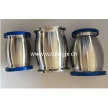 Санитарный контрольный клапан из нержавеющей стали с шаровым наконечником с обеих сторон и ручным сливом