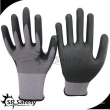 SRSAFETY дешевая цена / 15 г нейлон и спандекс тонкие пенные нитриловые перчатки / перчатки