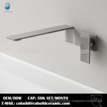 European bathroom sanitary wall mounted stainless steel basin faucet