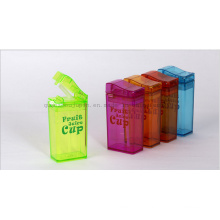 OEM Creative Juice Water Bottle Straw Cup with Lighter Shaped