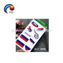 NUEVA etiqueta engomada del tatuaje de la bandera nacional del fútbol Etiqueta temporal de la bandera de la bandera de Rusia