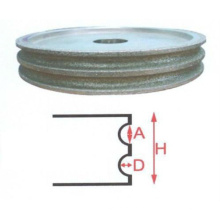 Venda quente estilo único abrasivo geral rebolo de diamante roda de polimento de brilho verdadeiro almofadas top vender mão de vidro rodas de edger
