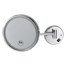 Miroir de salle de bain éclairé grossissant à mur rond intelligent