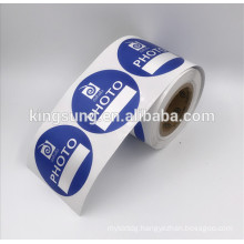 CIRCLE Custom Printed Adhesive Label Sticker Roll