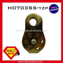 Amarelo Zincado Pequena Escalada Mounteering 13mm Steel Fixed Side Pulley