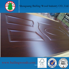 Melamine Walnut Color HDF Moulded Door Skin for Sale