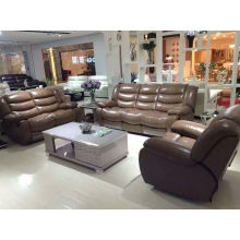 Brown Color High Quality Electric Type Leather Recliner Sofa (Y996-2)