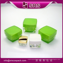 high quality plastic acrylic jar of difference color bottle and decorative jars for face cream