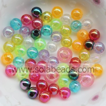 Outdoor 8mm bunte runden glatten Ball Imitation Swarovski Perlen