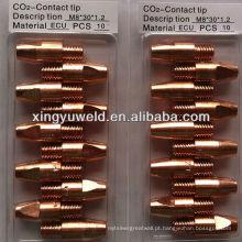 Binzel tipo 36kd solda contato ponta fornecedor / gás ponta de corte