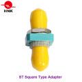 St Simplex Square Type Metal Fiber Optic Adapter