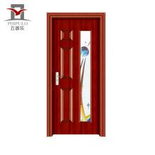 Широко используемая качественная экологичная стальная деревянная входная дверь из дерева