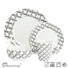16PCS Porcelain Dinner Set with Decal Printing Design