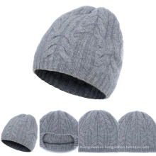 Lady′s Knitted Hat with Cables A16wa6-001